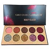 Beauty Glzaed Profi 10 Farben Schönheits Kosmetik Wasserdicht Lidschatten Palette Eyeshadow Nature...