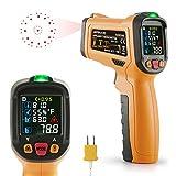 Infrarot Thermometer Janisa AD6530D ir Laser Digital Thermometer kontaktfreies mit Farbe lcd...