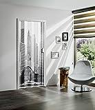 Falttür MARLEY Black & White ohne Fenster B 85 x H 197 cm Motiv Skyline