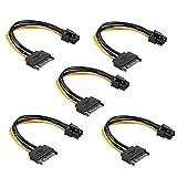 SATA Kabel 15Pin zu 6Pin PCI Express Stromkabel Power Adapter grafikkarten 5 Stück