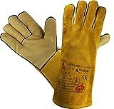Profi Arbeits-handschuhe Sicherheitshandschuhe für Schweisser MÜHLHEIM-II-SUPER gelb - Größe: 9