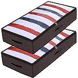 homyfort 2 Stück Unterbetttasche, Kleideraufbewahrung, Unterbett-Aufbewahrungstasche für...