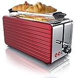 Arendo - Automatik Toaster Langschlitz 4 Scheiben | Defrost Funktion | wärmeisolierendes Gehäuse |...
