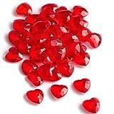 SiDeSo® Dekosteine Herzdiamanten Herzen 100 Stück viele Farben Acryl Tischdeko Streudeko Hochzeit...