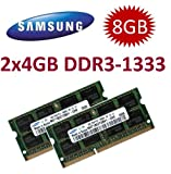 Samsung Arbeitsspeicher (Mihatsch & Diewald), 8GB Dual-Channel-Set, 2x 4GB, 204 Stifte,...
