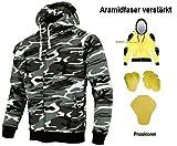 HEYBERRY Aramid Hoody Motorradjacke Hoodie Roller Jacke Camouflage Gr. L