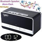 Bluetooth Lautsprecher mit Wecker und Radio, XPLUS All-in-1 tragbarer drahtloser Bluetooth Sprecher...