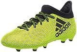 adidas Jungen X 17.3 Fg J Fußballschuhe, Weiß, Mehrfarbig (Solar Yellow/legend Ink F17/legend Ink...
