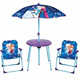 GLOBAL4KIDS Eiskönigin ELSA Sitzgruppe Tisch Stühle Kindertisch Disney Frozen Gartenmöbel