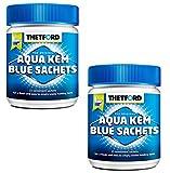 2x Sanitärzusatz Thetford für Campingtoiletten Aqua Kem Blue Sachets