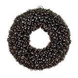 Naturkranz Deko-Kranz groß Ø 25cm in schwarz, gefertigt aus Bakuli-Früchten. Türkranz zum...