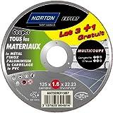 Norton Trennscheiben für verschiedene Materialien, 125 x 1,6 x 22,2 mm, 4 Stück