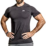 Herren Fitness T-Shirt modal - Männer Kurzarm Shirt für Gym & Training - Passform Slim-Fit, lang...