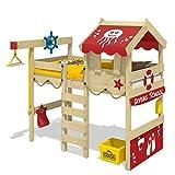 WICKEY Hochbett CrAzY Jelly Kinderbett mit Dach Spielbett 90x200 für Kinder mit Lattenboden und...