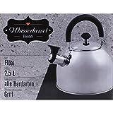 2,5 Liter Edelstahl Teekessel Wasserkessel Wasserkocher Pfeifkessel Flötenkessel Wasserkocher