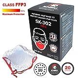 20x Atemschutzmaske Staub FFP3   Atemmaske Atemschutz Halbmaske Staubschutz Respirator Disposable...