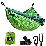 NatureFun Ultraleichte Camping Hängematte / 300kg Tragfähigkeit, Atmungsaktiv, schnell trocknende...