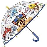 Regenschirm Paw Patrol - Kinderschirm mit transparenter Kuppel, robust, windfest - Sicher...