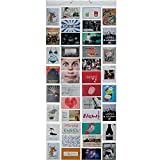 Fotovorhang XXL Bildervorhang Photo-Vorhang mit 40 Taschen für 80 10 x 15 cm Fotos Postkarten...