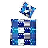 Lumaland Premium Baumwoll Baby- und Kinderbettwäsche mit YKK Reißverschluss 80 x 80 cm mit...