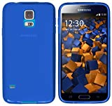mumbi Schutzhülle für Samsung Galaxy S5 / S5 Neo Hülle transparent blau