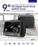 XTRONS® 2016 Neu 2x 9' Auto Kopfstütze HD TFT Monitor DVD CD Player HDMI USB SD Port FM/IR...