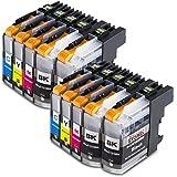10x Druckerpatronen kompatibel für Brother LC-123 LC123 xl Brother DCP-J132W DCP-J150 Series...