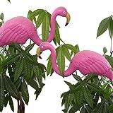 Bada Bing 2er Set Teichfigur Flamingo pink 67 cm Steckfigur Garten Gartendeko Sommer Trend