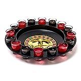 Relaxdays Trinkspiel Roulette Set mit 16 Schnapsgläsern 30 x 30 cm Glücksspiel als lustiges...