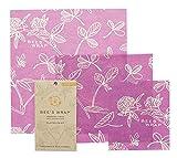 Bee's Wrap Wachspapier, Set mit 3Stück, verschiedene Größen, Violett