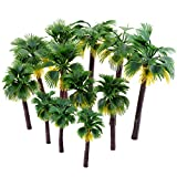12 stk Künstliche Kunststoff Modelle Bäume, Ishua Grün Modell Palme Bäumen Palme für Landschaft...