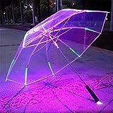 NWYR Regenschirm LED 7 Farbe Licht Regenschirm UV Schutz Wasserdichte Sonnenschirm Nachtbeleuchtung...