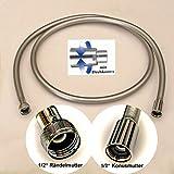 Brauseschlauch SylverLine 1/2 Zoll, chrom glatt, verschiedene Längen (80 cm - 125 cm - 160 cm - 200...