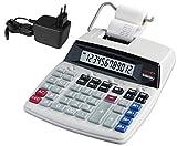 Genie D69 Plus Druckender Tischrechner (Netzteil, 12-stelliger Rechner, rot und schwarz Druck...