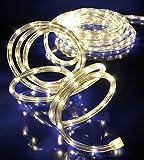 LED Lichterschlauch Lichtschlauch 6m warmweiss mit 144LEDs für aussen und innen 75029