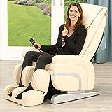 Massagesessel Relax Premium Sessel Fernsehsessel Massage Entspannungssessel (Creme)