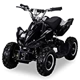 Mini Elektro Kinder Racer 800 Watt ATV Pocket Quad Kinderquad Kinderfahrzeug schwarz