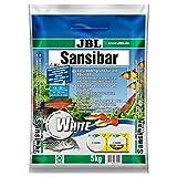 JBL Sansibar White 67055 Bodengrund Weiß für Süßwasser Aquarien, 5 kg