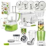 Genius Feelvita Food Processor | Deluxe Set 31 Teile | Küchenmaschine inkl. Feelvita Nutri Mixer |...