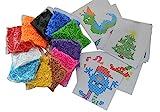 Jumbo XL-Bügelperlen-Set, 11.000 Bügelperlen in 11 Farben, 1 große Steckplatte + 25 Vorlagen