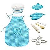 11pcs / Pack Chef-Set Für Kinder Küchenrollen Koch-Kostüm Mit Schürze Chef-Hut Utensilien...