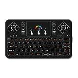 Best Wireless Tastatur mit Touchpad Maus –, Q92,4GHz Bunter Hintergrundbeleuchtung Mini...