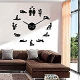 Knncch 27 Zoll Schwarz 1 Stück Bachelorette Spiel Sexy Kama Sutra Dekorative Uhr Modernes Design...