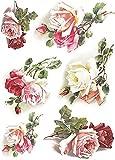 Reispapier A4 - Teerose, Motiv-Strohseide, Strohseidenpapier, Decoupage Papier