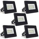 5-er Pack - ZONE LED SET - 10W - LED Strahler, LED Fluter - Tageslicht (4000K) - 850 Lm - Entspricht...