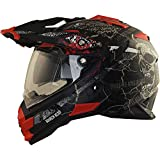 Broken Head Road Pirate Cross-Helm mit Visier | Endurohelm - MX Motocross Helm mit Sonnenblende -...