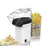 Popcornmaschine, Foneso Popcornmaker in weiß, leicht zu reinigen, Keine Zugabe von Öl, Popcorn...