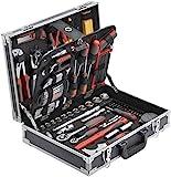 Meister Werkzeugkoffer 129-teilig ✓ Stabiler Alu-Koffer ✓ Werkzeug-Set ✓ Für Haushalt, Garage...