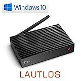 Mini PC - lautlose CSL Narrow Box Ultra HD Storage Line / Win 10 - Silent-PC mit Intel QuadCore CPU...
