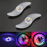 Osan 2 x Fahrrad Speichenlicht Wasserdicht RGB 3 Optionen vom Lichtmodus LED Speichenlicht...